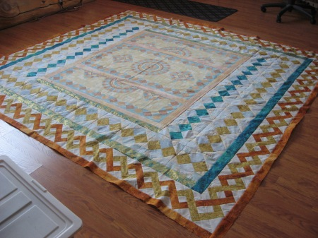 Completed Stonehenge quilt top